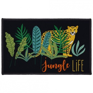 Tapis multi-usage (80 cm) Mystic Jungle Noir