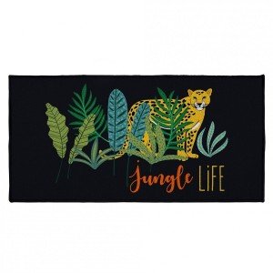 Alfombra multiuso (115 cm) Mystic Jungle Negro