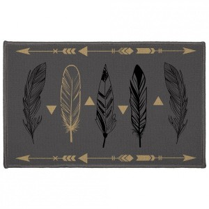 Tapis multi-usage (80 cm) Plume chic Gris