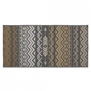 Tapis multi-usage (115 cm) Zaparos Or et gris