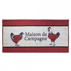 Tapis multi-usage (115 cm) Poulapois Rouge