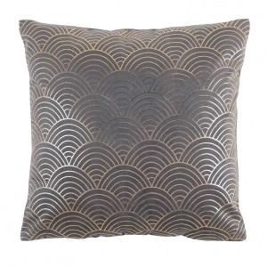 Coussin velours (40 cm) Duchesse Gris anthracite