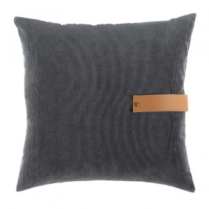 Coussin velours (40 cm) Milleray Gris anthracite