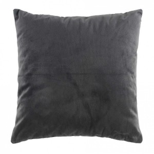 Coussin velours (40 cm) Veloutea Gris anthracite