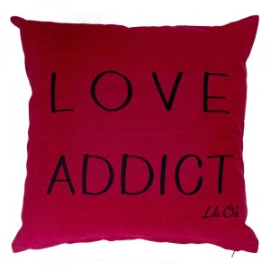 Coussin (40 cm) Addict love Rouge