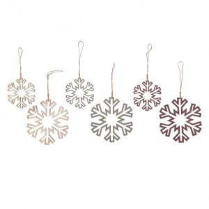 Lot de 6 flocons de Noël Floconia Multicolore