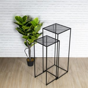 Lot de 2 tables d'appoint gigognes Riga Noires
