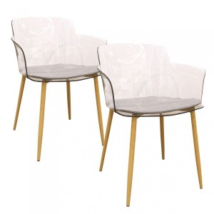Lot de 2 fauteuils West Naturel