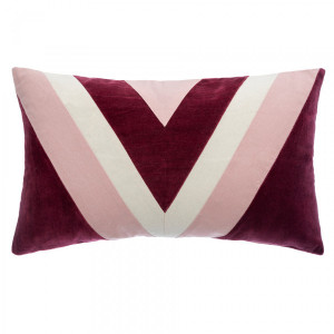 Coussin rectangulaire Patch Rouge