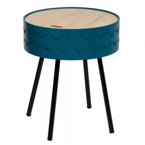 Table coffre Shiro Bleue