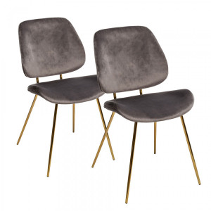 Lot de 2 Chaises Slow Grises