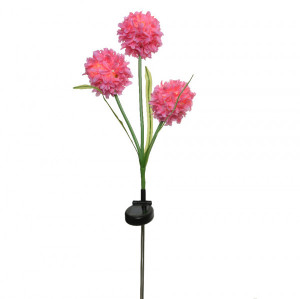Flores artificiales LED solar - Rosa