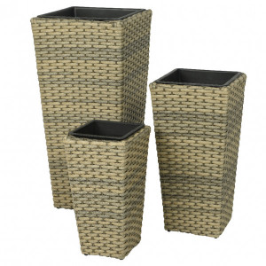 Lot de 3 pots coniques Murcia - Naturel