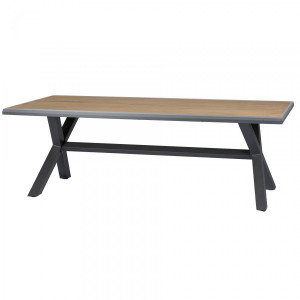 Table de jardin Teck Axiome (220 x 109 cm) - Naturel