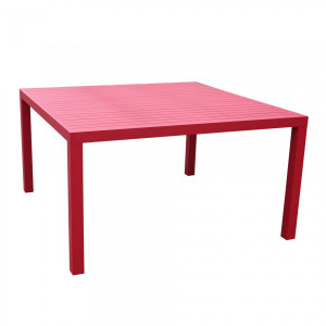 Table de jardin carrée Aluminium Murano (136 x 136 cm) - Rouge