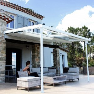 Pérgola Arizona (3,6 x 3 m) - Blanco