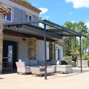 Pergola Arizona (3,6 x 3 m) - Gris anthracite
