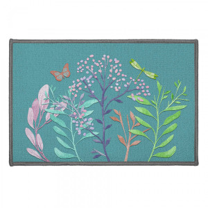 Tapis multi-usage (60 cm) Fresh Flower Bleu