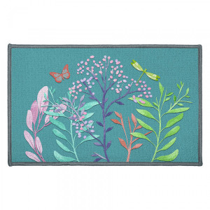 Tapis multi-usage (80 cm) Fresh Flower Bleu