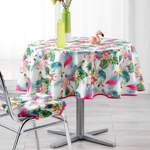 Mantel redondo  (D180 cm) Flamingo Beach Multicolor