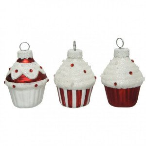 Lot de 6 porte-nom ou menu Cupcake Rouge