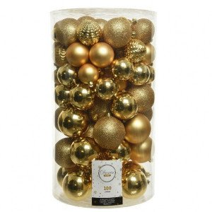 Lot de 100 boules de Noël  Loelia Or