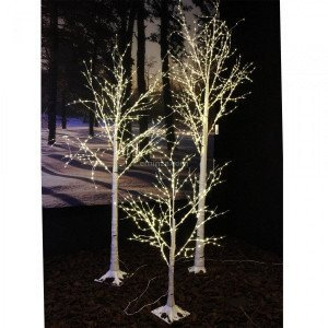 Bouleau lumineux Wills Micro LED H100 cm Blanc chaud