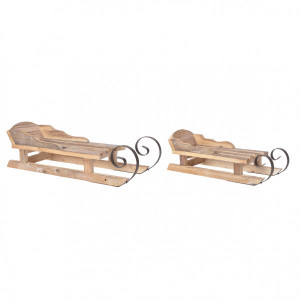 Luge en bois Epicea lot de 2 naturel