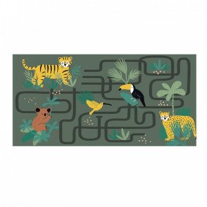 Tapis (120 cm) Animaux and co Vert kaki