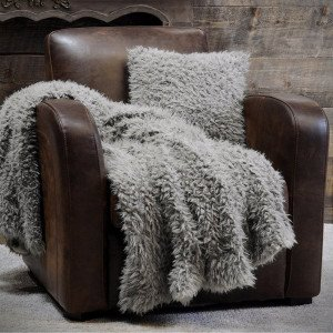 Plaid ecopelliccia (160 cm) Mouton Tortora