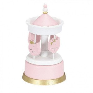 Carrousel musical Chaton Rose