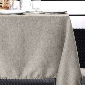 Nappe rectangulaire (L240 cm) Bea Taupe clair