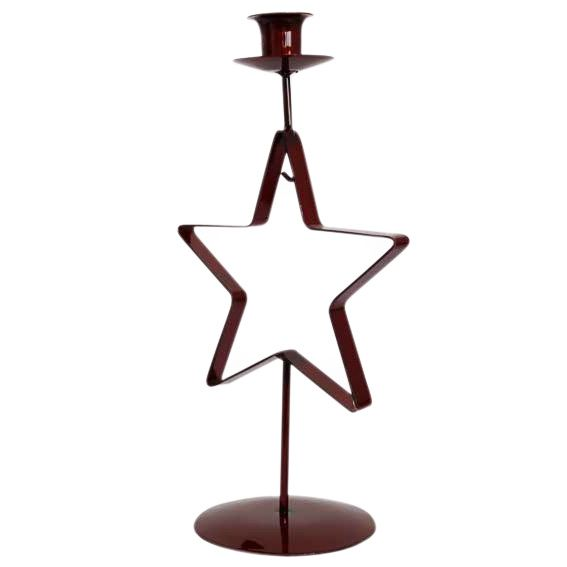 Bougeoir Étoile Star Rouge