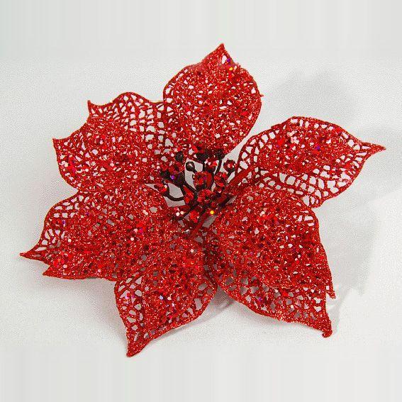 Image Fleur Noel.Fleur De Noel Poinsettia Rouge