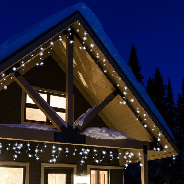 stalactite lumineuse 11 m blanc froid 259 led cb guirlande lumineuse eminza. Black Bedroom Furniture Sets. Home Design Ideas