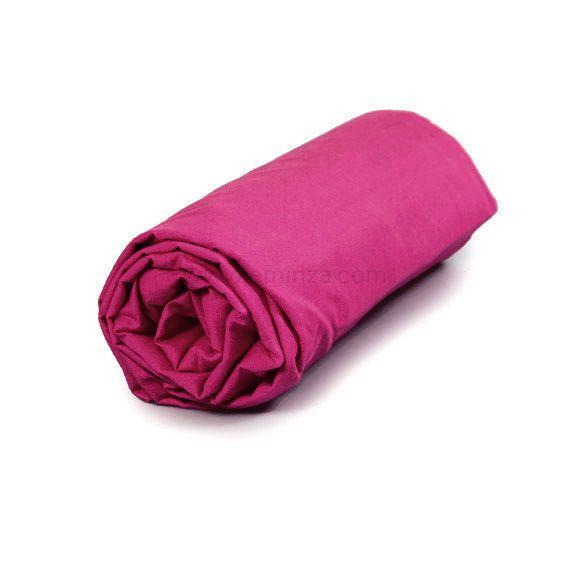 Drap housse coton (140 cm) Lina Bois de rose