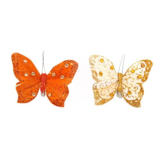 Lot de 2 Papillons Loona Jaune - Orange