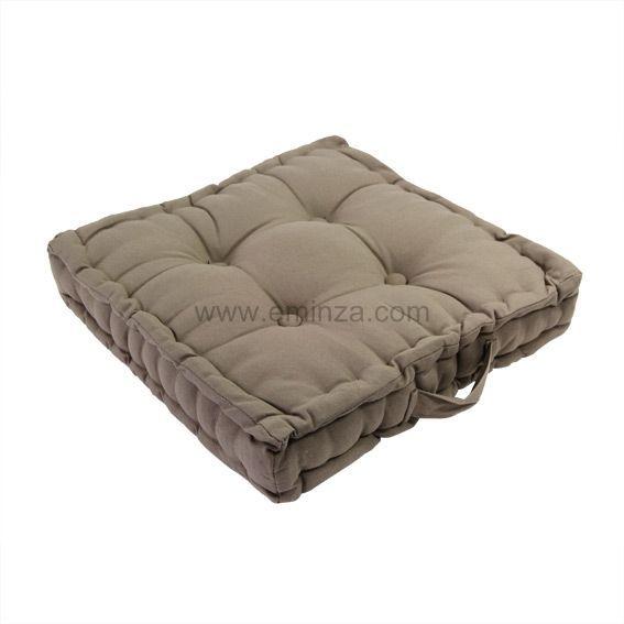 coussin et galette taupe eminza. Black Bedroom Furniture Sets. Home Design Ideas