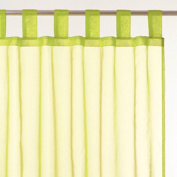 voilage organza vert anis eminza. Black Bedroom Furniture Sets. Home Design Ideas