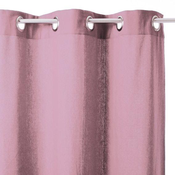 rideau 140 x h260 cm uni parme rideau tamisant eminza. Black Bedroom Furniture Sets. Home Design Ideas