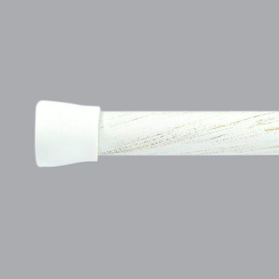 barre autobloquante l200 cm rond blanc barre multi usage eminza. Black Bedroom Furniture Sets. Home Design Ideas