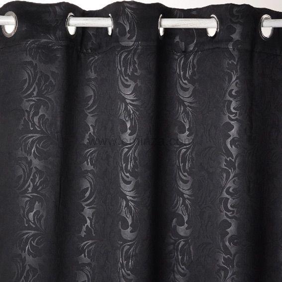 rideau occultant 140 x h240 cm design noir rideau voilage store eminza. Black Bedroom Furniture Sets. Home Design Ideas