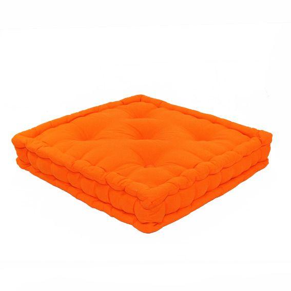 Coussin de sol 50 cm etna orange coussin de sol et pouf eminza - Coussin de sol grand ...