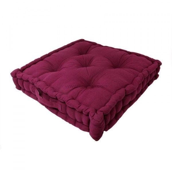 coussin de sol 50 cm etna prune coussin de sol et pouf. Black Bedroom Furniture Sets. Home Design Ideas