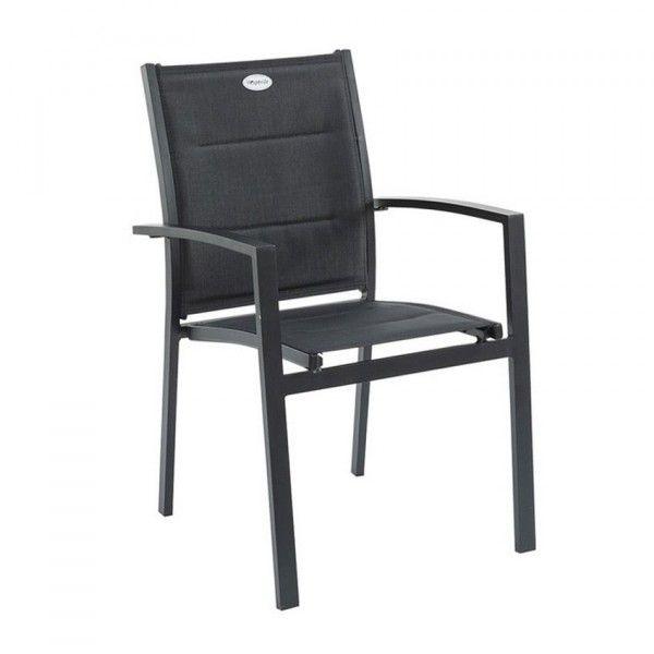 Fauteuil de jardin Azua - Noir - Salon de jardin, table et chaise ...