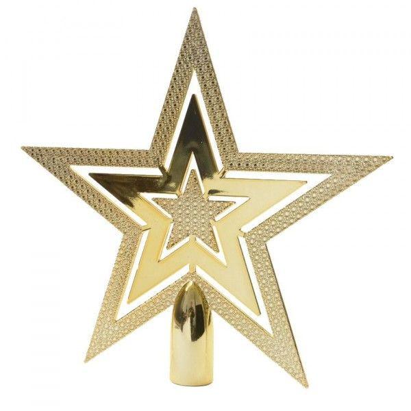 Puntale A Stella Per Albero Di Natale.Puntale Albero Stella Brillante Oro Addobbi Albero Di Natale Eminza