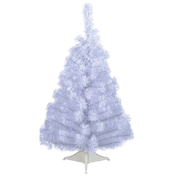 Sapin artificiel de table Majestic H45 cm Blanc