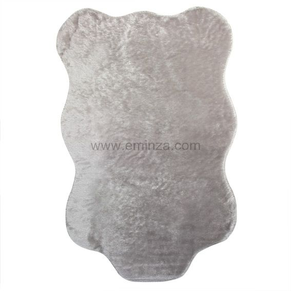 tapis peau de bte peluche gris clair - Tapis Peau De Bete
