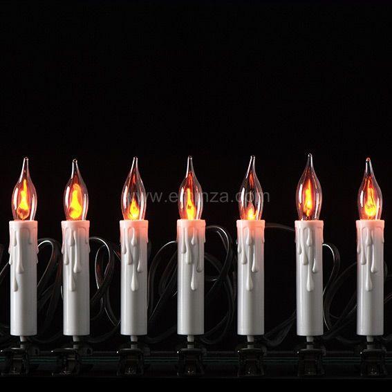 Guirlande lumineuse 6 m Bougies LED Blanc chaud