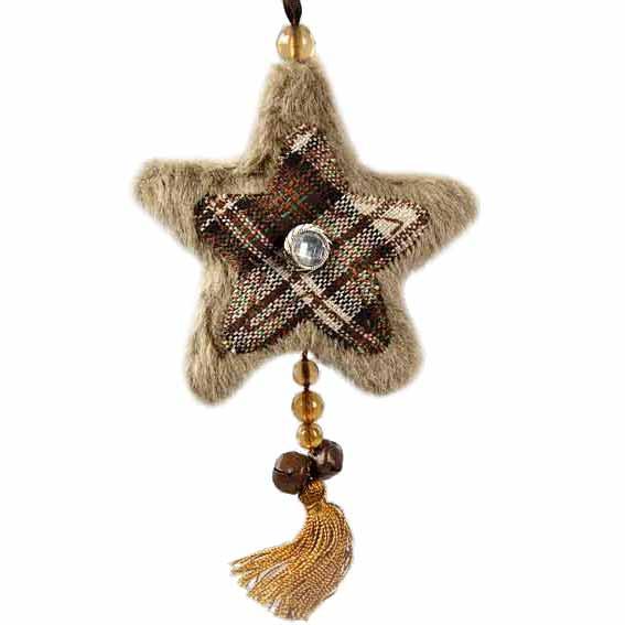 Suspension de no l scotland naturel d coration de sapin - Decoration de noel naturel ...